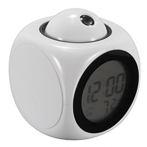 Fashion Attention Projection Digital Weather LCD Snooze Alarm Clock Projector Color Display LED Backlight Bell Timer  2020 HOT