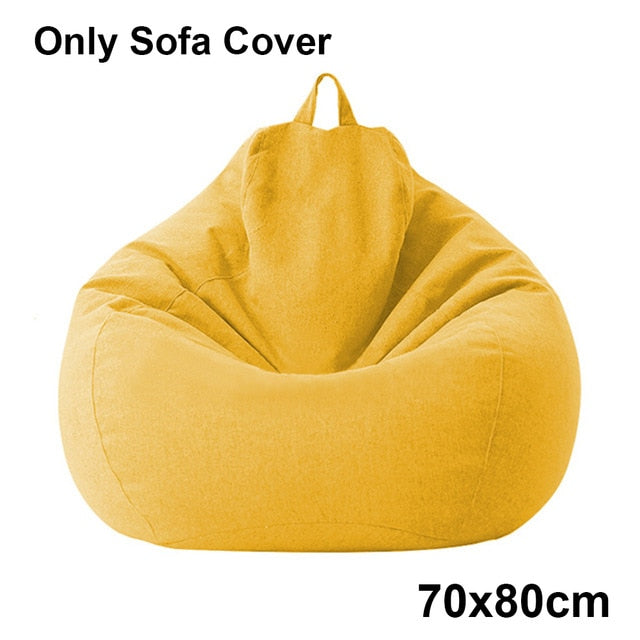 Adults Kids Large Bean Bag Chair Sofa Couch Cover Indoor Lazy Lounger No filling Puff Couch Chairs Tatami Living Room Furniture