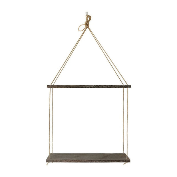1 2 3 Tier Rustic Wooden Hanging Rope Shelf Handmade Solid Wood Floating Shelves Home Decorative Wall Mounted Rack Wall Tray
