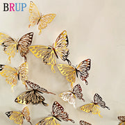 Hollow golden silver butterfly wall stickers