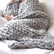Chunky Knit Blanket Handmade By Soft Knitting Throw Bed Bedroom Decor Bulky Sofa Sofa Decor Air Conditioner Blanket Sofa Blanket