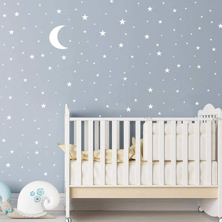 Star moon combination wall sticker for kids baby rooms bedroom background home decoration wallpaper DIY decals nursery stickers