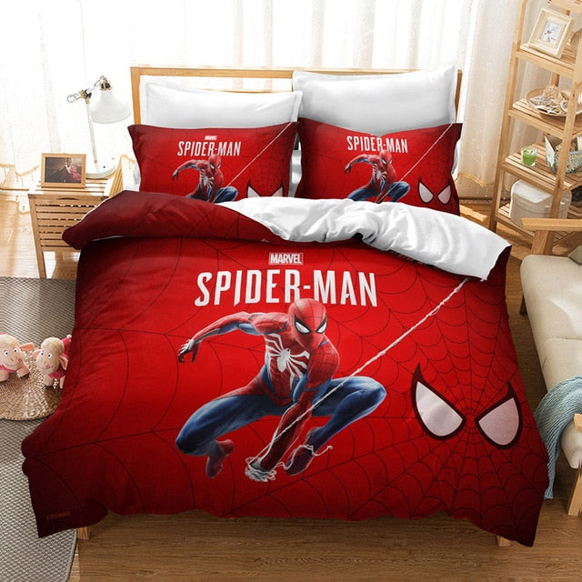 Disney Spider-Man Bedding Set Marvel Character Boy Bedding Set Luxury Duvet Cover Bed Linen Set De Cama 3d Bedding Sets