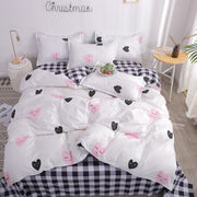 Heart Tropical Print 4pcs Lovers Bed Cover Set Duvet Cover Adult Child Girl Boy Bed Sheet Pillowcase Comforter Bedding Set 61005