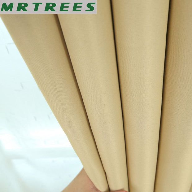 Blackout Curtains For Living Room Bedroom Solid Color Curtains for the kitchen Blinds Modern Finished Window Treatment Curtains