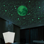 3D Bubble Luminous Stars Dots Wall Stickers Glow In The Dark Moon For Living Home Kid Room Wall Decoration Fluorescent Stickers
