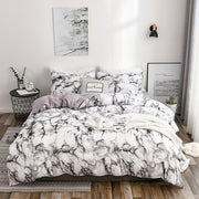 Quilted Sanding Duvet Cover Set Marble Duvet Cover&Pillowcase Bedding Set for Single Double Bed 2020 New Bed Linen