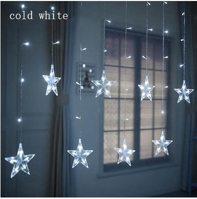 LED christmas lights star curtain string