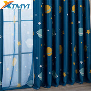 Cartoon Planet Blackout Curtains For Kids Room Children Curtains For Baby Boys Bedroom Living Room Window Curtains For Child