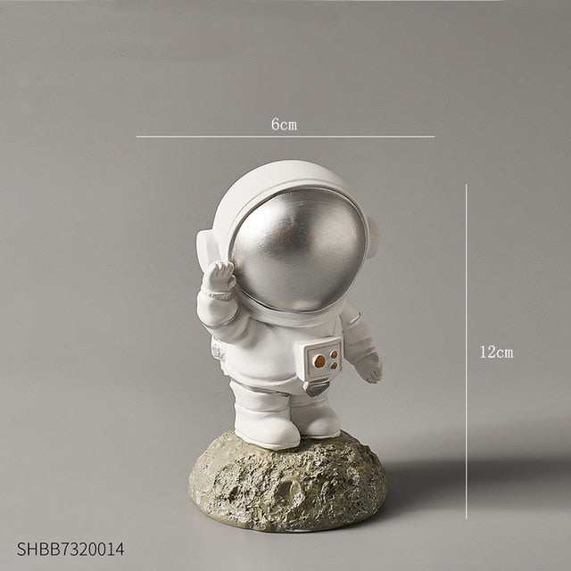 Living Room Home Decoration Accessories Nordic Home Decor Figurines Desk Decoration Astronaut Ornament Flat Back Resin Miniature