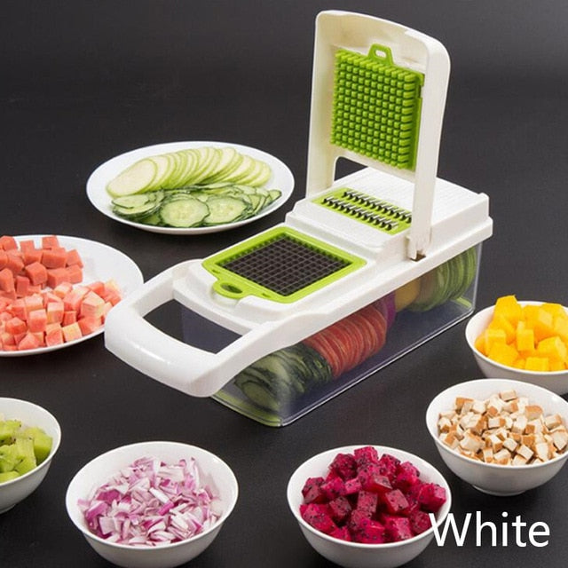 Multifunctional Vegetable Cutter Fruit Slicer Grater Shredders Drain Basket Slicers 8 In 1 Gadgets Kitchen Accessories
