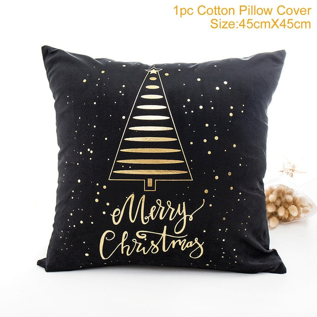 QIFU Cotton Linen Merry Christmas