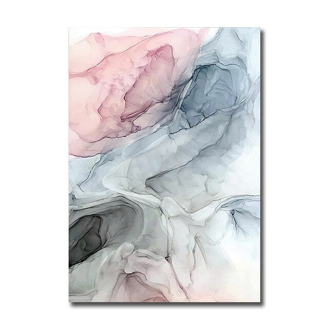 Colorful Ink Canvas Poster Modern Abstract