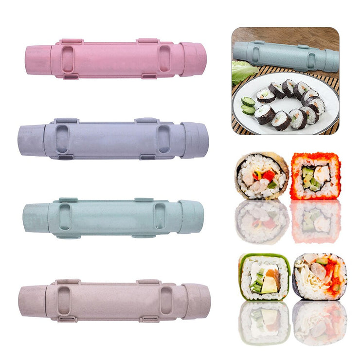 Kitchen Gadget Sushi Maker Roller Japanese Rice Mold Sushi Bazooka Vegetable Meat Rolling Tool DIY Sushi Making Machine 4 Colors