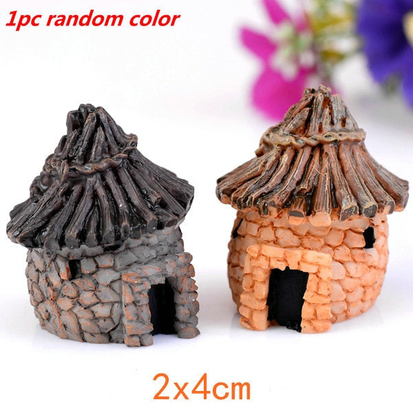 Cute Village House Miniature Garden Mini Bridge Stairs