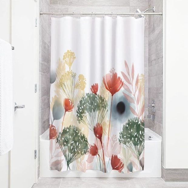 NICETOWN 60 patterns Green plant Shower Curtain Bathroom Waterproof Polyester Leaves 3D Printing Curtains for bathroom shower