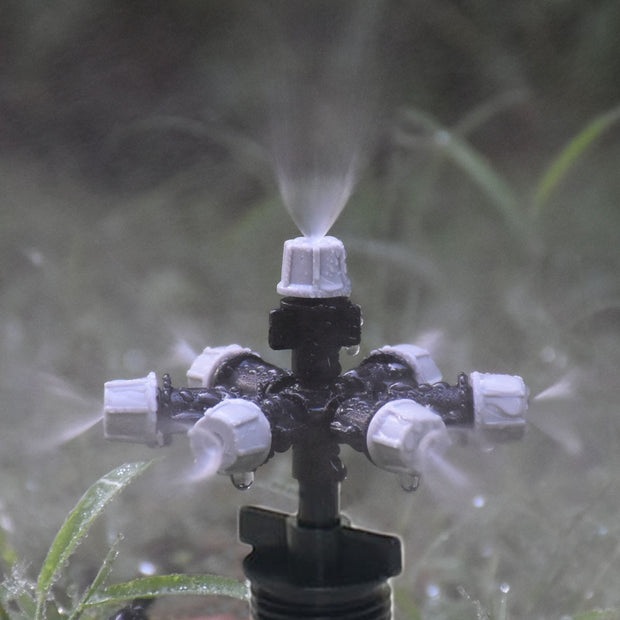 "1/2"" 3/4"" Male 5-way garden watering sprinkler 7-way mist sprinkler For Garden Greenhouse Irrigation Accessories 1set"