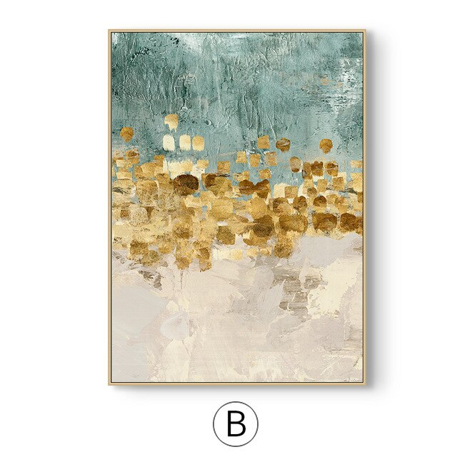 Nordic Art Dancing Stars Canvas Poster Minimalism Painting Abstract color Wall Picture for Living Room Home Decor (No Frame)