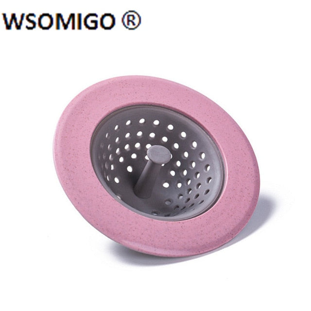 1pcs Anti-clog Sewer Outfall Strainer Kitchen Accessories  Silicone Sink Drain Bathtub Filter Kitchen Tools Bathroom Gadgets-S
