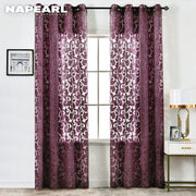 NAPEARL 1 Piece Luxury Fashion Style Semi-blackout Curtains Window Panel Jacquard Fabrics Door Cream White