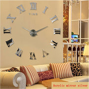 promotion 2020 new  diy wall clock home decor large roman mirror fashion modern Quartz clocks living room watch free shipping