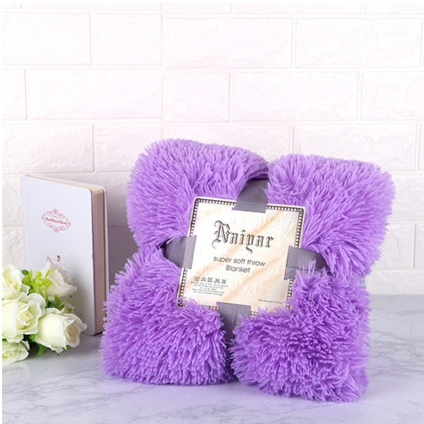 Plush Blanket Soft Fur Faux With Fluffy