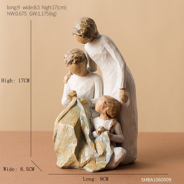 Mother's Day Birthday Christmas Wedding Gift Nordic Home Decoration People Model Living Room Accessories Family Figurines Crafts