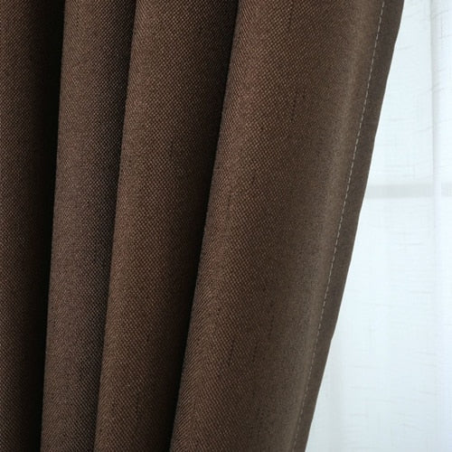 Thicken Blackout Curtains Nordic Style Bedroom Fabric For Bedroom Curtains For Living Room Window Blinds Luxury