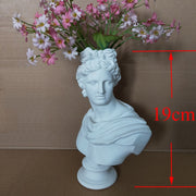 W&G Modern Nordic Style Creative Portrait Vase Human Head Flower Vases Decorative Ornaments Resin David Home Flowers Art Decor