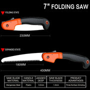 Folding SK5 Hacksaw Blade Three-Side Grinding Hand Saw, Household, Garden Logging Saw, Outdoor Camping Tool For Wood