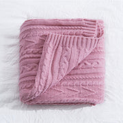 REGINA Brand Winter Stripe Fleece Blanket Soft Warm Sherpa Nordic Style Home Decor Bedspread Plush Throw Blanket For Bed Sofa