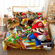 3D Printed Cartoon Super Mario Bros Bedclothes Duvet Covers Bedding Set Luxury Comforter Bedding Sets Home Textile Supplies 2020