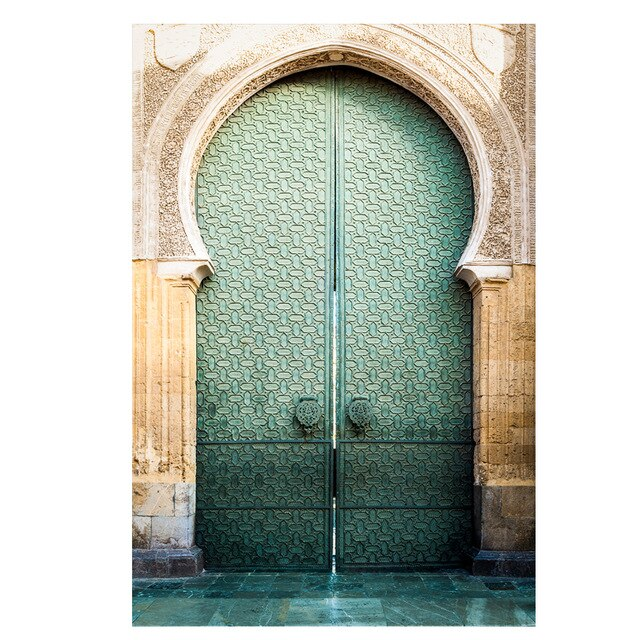 Modern Nordic Morocco Door Vintage Posters World Famous Architecture Art Pictures Printed Living Room Canvas Painting Home Decor
