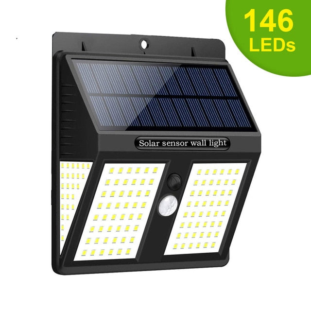 Solar Led Outdoor Security Lights 2200mAh Working 12 Hours Motion Sensor Waterproof Solar Wall Lamp for Garden Path Decoration