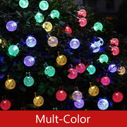 50 LEDs 10m Crystal Ball Solar Light Outdoor IP65 Waterproof String Fairy Lamps Solar Garden Garlands Christmas Decoration