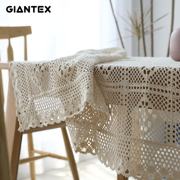 Hollow Decorative Table Cloth Lace Tablecloth Rectangular Tablecloths Dining Table Cover Obrus Tafelkleed mantel mesa nappe