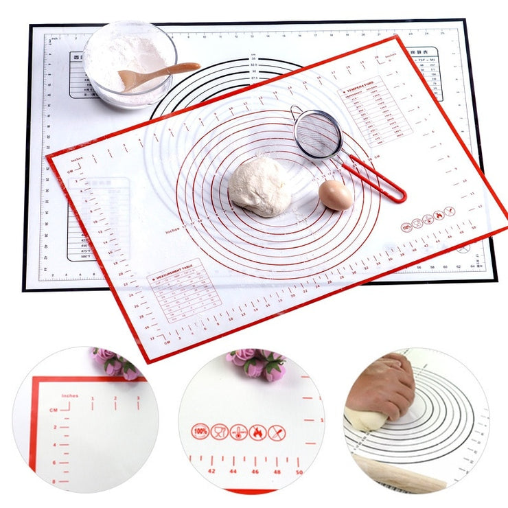 1PCs Silicone Baking Mat With Scale Rolling Dough Pad Kneading Dough Mat Non Stick Pastry Oven Liner Bakeware Accessories