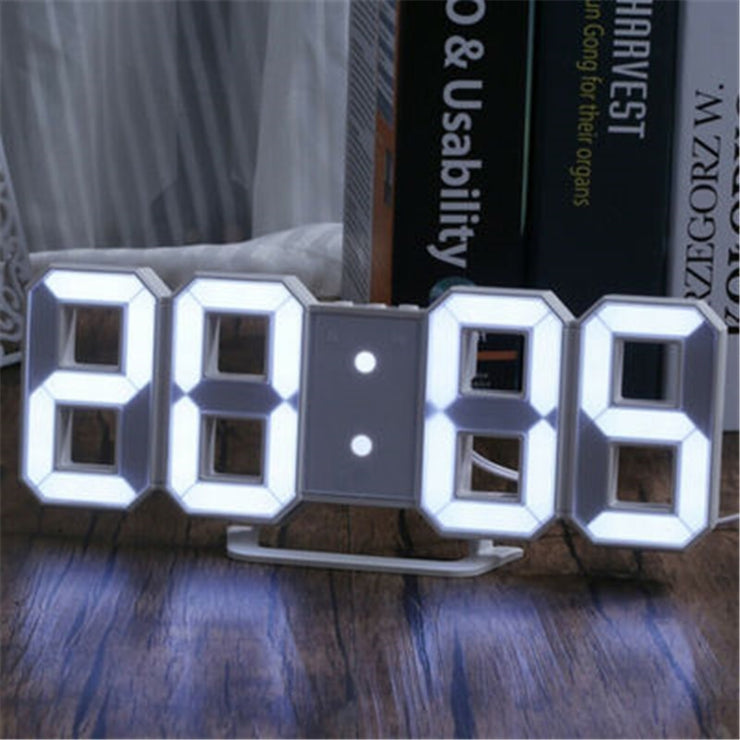 LED Digital Wall Clock Alarm Date Temperature Automatic Backlight Table Desktop Home Decoration Stand hang Clocks wholesale