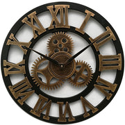 Large Wooden Wall Clock Vintage Gear Clock Us Style Living Room Wall Clock Modern Design Decoration For Home Clocks On The Wall