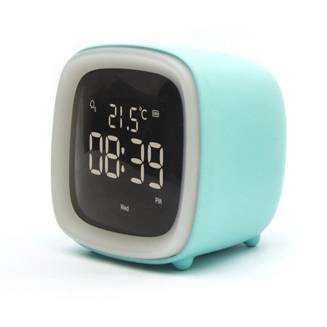 Cut Digital Alarm Clock Cartoon Night Light Desk Alarm Clock Rechargeable Battery, Christmas gift for Kids