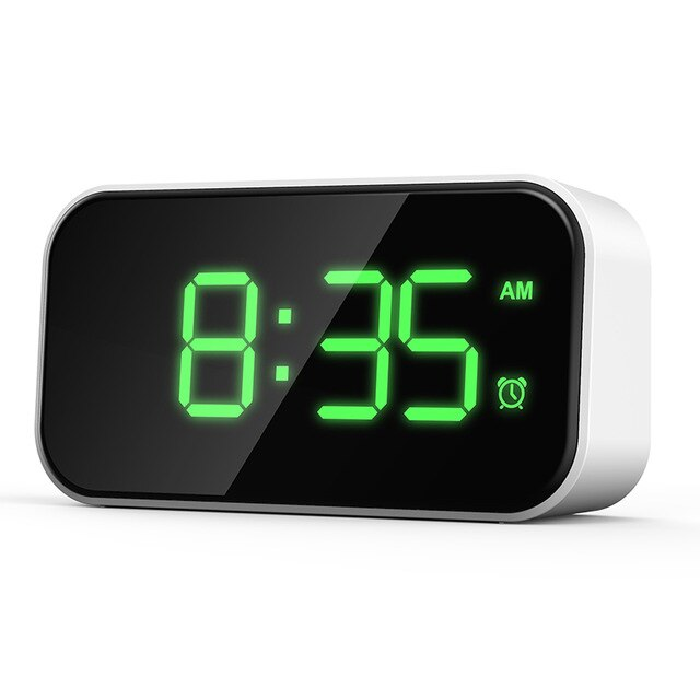 NEW 5-inch Creative Digital Touch Digital Alarm Clock Full LED Mirror Screen Support Fast Charging Alarm Clock Easy To Use