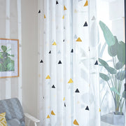 Nordic Style Tulle Curtains for Children's Bedroom The Livingroom Kids Window Treatments Sheer Voile for Kitchen Drapes Panels