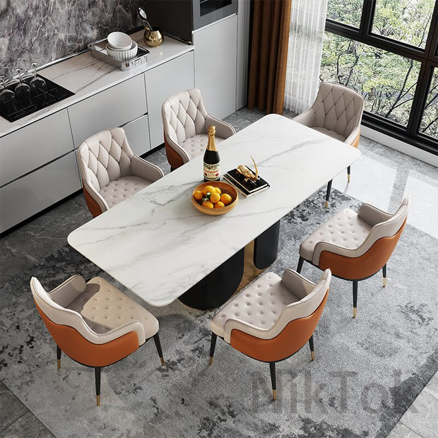 Luxury Dining Chairs Household Furniture Modern Minimalist Nordic Chair In The Dining Room with Leather Material Dining Chair L