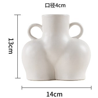 Nordic Style Home Simulation Human Body Art Vase Ceramic Decoration Handicraft Decoration Ceramic Vase Desktop Decoration