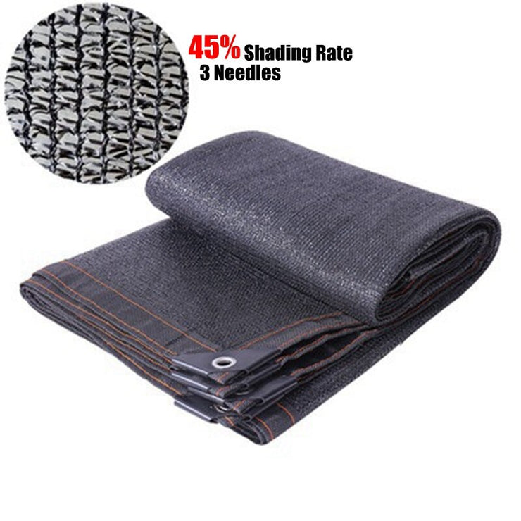 45% Shading Garden Greenhouse Sunshade Net UV Protection Black Sun Sailing Succulents Plants Protection Cover House Sun Shelters