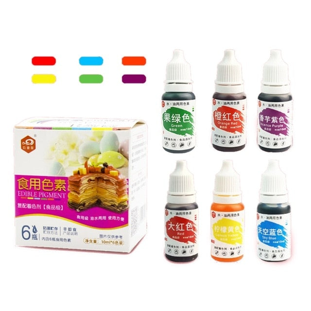 10ml Natural Ink Food Coloring Cake Pastries Cookies Liquid Dye Pigment Baking Decor Fondant Cooking Icing DIY Crafts