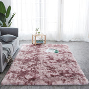 Shaggy Tie-dye Carpet Printed Alfombra Plush Floor Fluffy Mats Kids Room Faux Fur Area Rug Living Room Mats Silky Rugs(40*40)