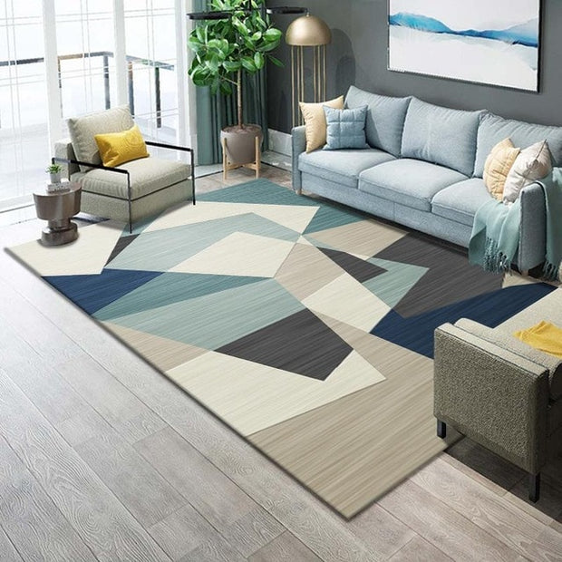 Modern Art Washable Carpet Rug For Living Room Washable Modern Printing Geometric Floor Rug Carpet For Parlor Mat Bedroom