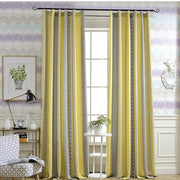 Slow Soul Yellow Blue Orange Cotton Linen Curtain Jacquard Pop Point Spot Geometric Curtains For Living Room Kitchen Bedroom