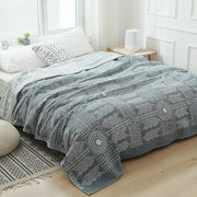 Muslin Cotton Gauze Throw Blanket for Bed Sofa Chair Decorative Plaid Soft Lightweight Breathable Bedspread for Summer